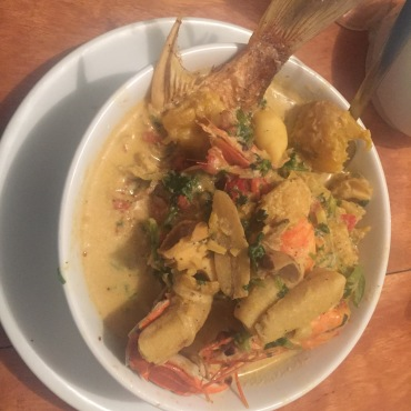 Fish stew from Casa Nostra's Restaurant