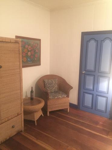 Loved the blue doors/windows!