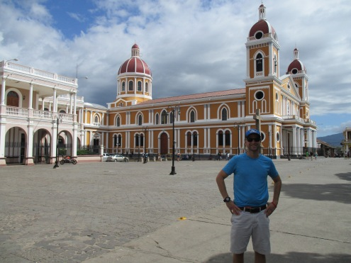 Jeff in front of Catedral de Granada