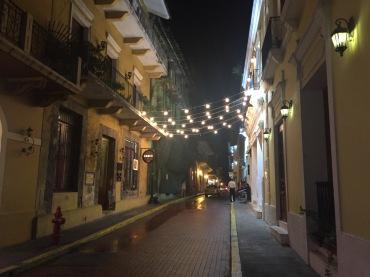 Festive street in Casco Viejo