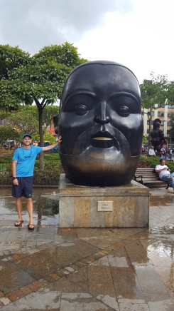 Jeff in Plaza de Botero