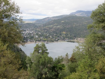 San Martin De Los Andes from above