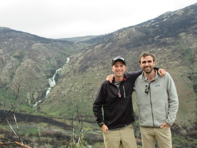 Jeff and his buddy Matt in South Africa