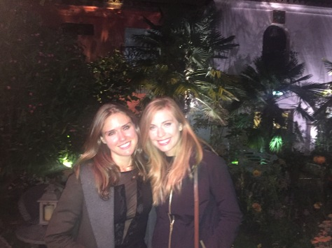 Laura and me at The Roof Gardens