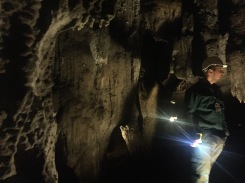 Our guide Marco, discussing some of the cave's bat species